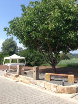 Der Platz am Nussbaum wartet auf die ersten Gäste
