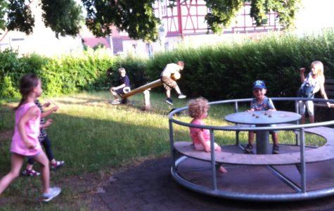Auch der Spielplatz nebenan wurde gut besucht