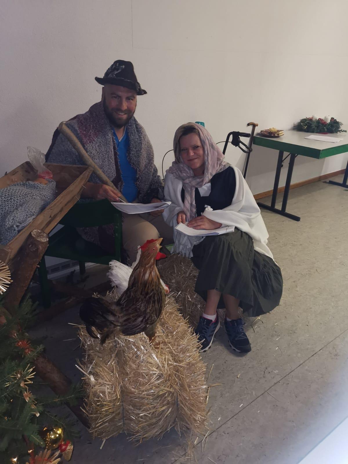 Weihnachtsfeier für unsere Patienten im Gemeindehaus in Tambach