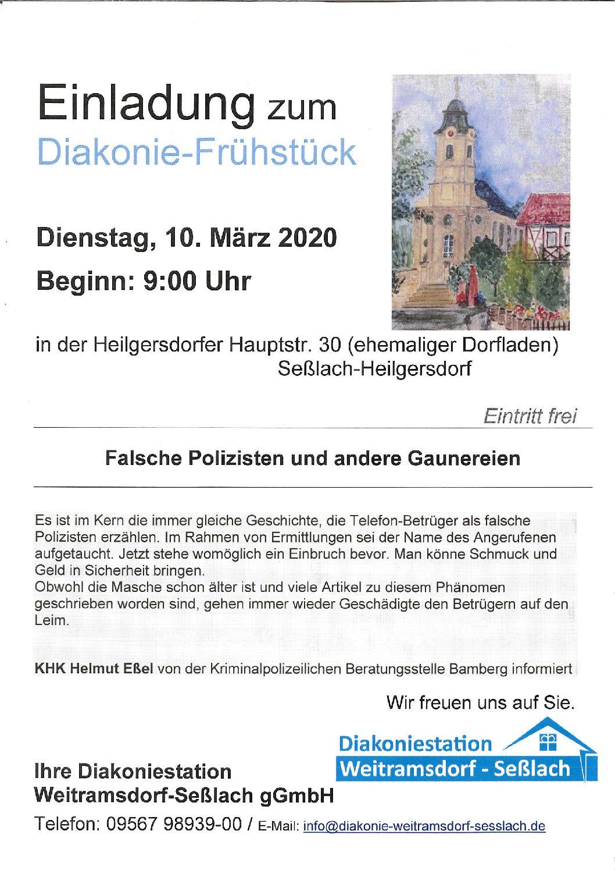 Diakoniefrühstück in Heilgersdorf